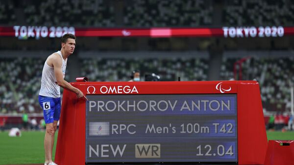 Антон Прохоров после победы на Паралимпийских играх в Токио