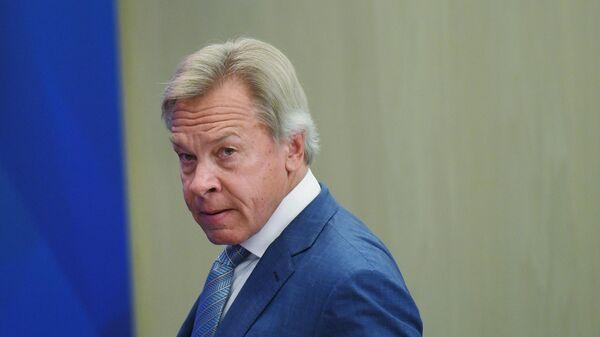 Cенатор Российской Федерации, председатель Комиссии по информационной политике и взаимодействию со средствами массовой информации Совета Федерации Алексей Пушков