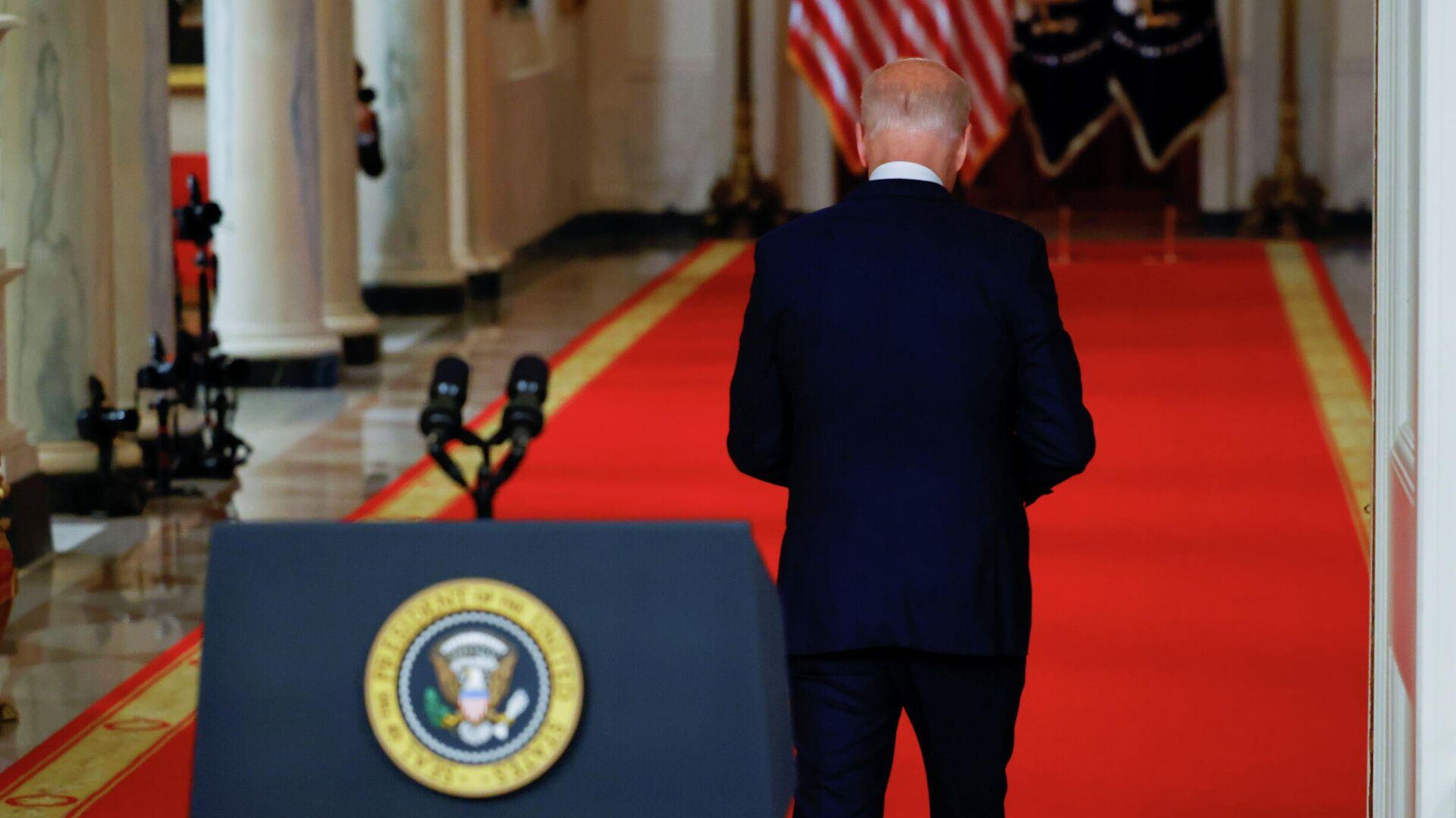 Президент США Джо Байден во время выступления в Белом доме - РИА Новости, 1920, 12.09.2021