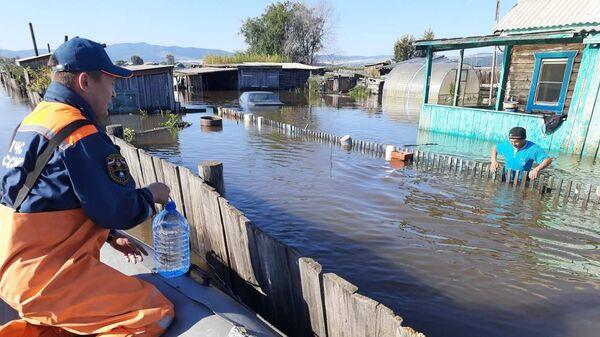 Паводковая обстановка в Кяхтинском районе Бурятии