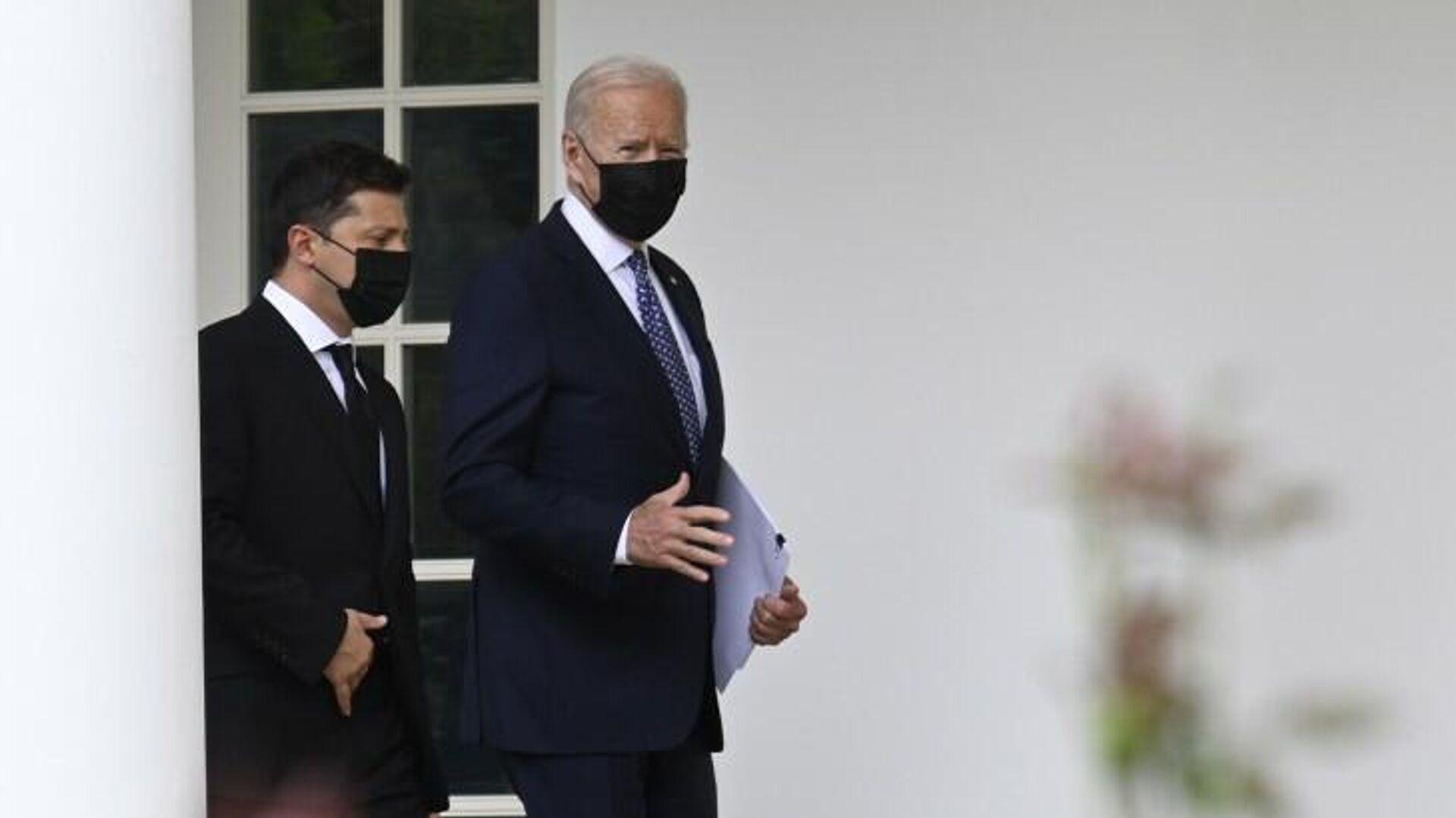 Президент Украины Владимир Зеленский и президент США Джо Байден во время встречи в Белом доме - РИА Новости, 1920, 03.09.2021