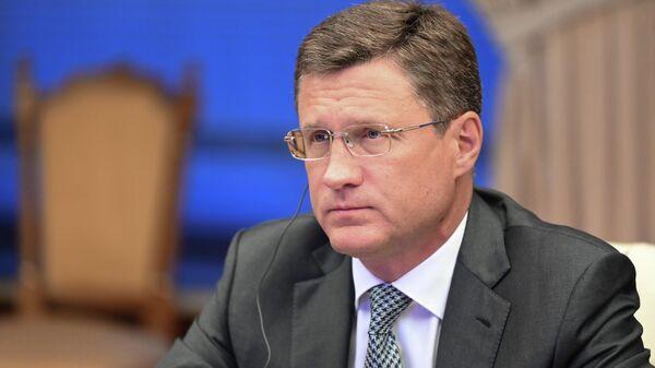Заместитель председателя правительства РФ Александр Новак на заседании министров стран ОПЕК+ в Москве