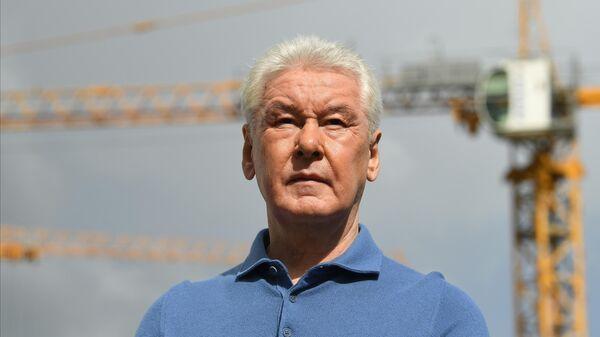 Мэр Москвы Сергей Собянин во время посещения Курьяновских очистных сооружений
