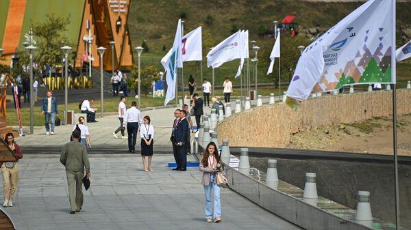 На выставке Улица Дальнего Востока в рамках Восточного экономического форума (ВЭФ) во Владивостоке.