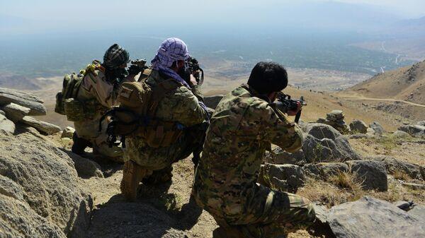 Бойцы афганского движение сопротивления Талибану* в провинции Панджшер