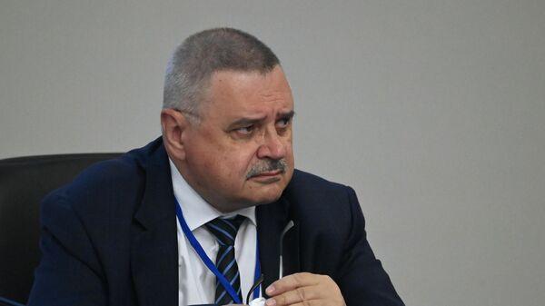 Заместитель председателя Следственного комитета Российской Федерации, генерал-полковник Александр Федоров во время научно-практического форума в Хабаровске