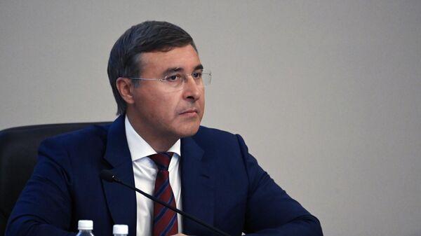 Министр науки и высшего образования РФ Валерий Фальков во время научно-практического форума в Хабаровске