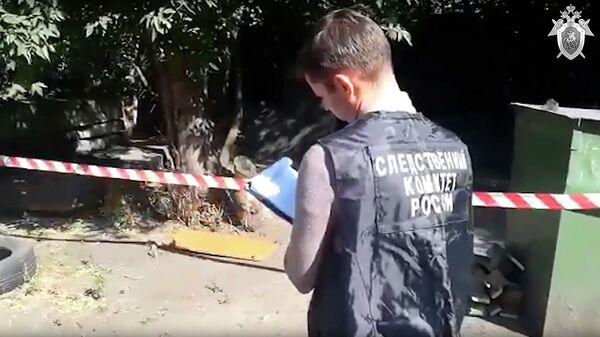 Сотрудники СК РФ на месте убийства двух девочек в Киселевске