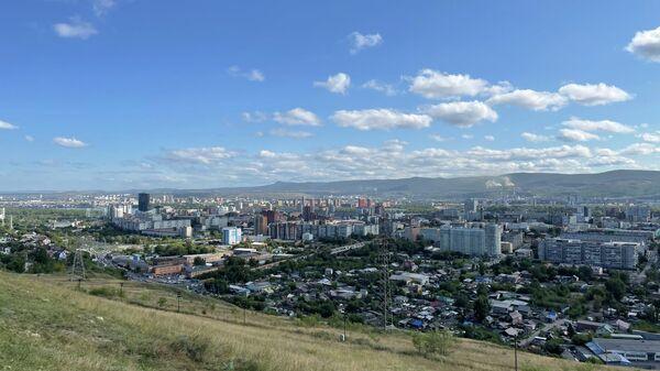 Вид на Красноярск с Караульной горы