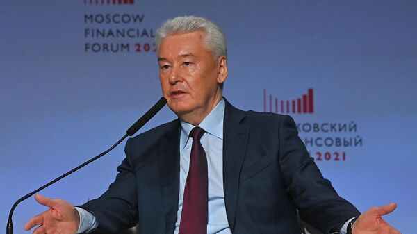 Мэр Москвы Сергей Собянин на Московском финансовом форуме