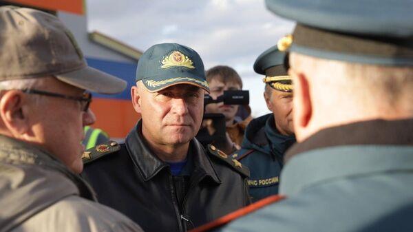 Глава МЧС России Евгений Зиничев проверяет ход строительства новой пожарной части в Норильске. 8 сентября 2021