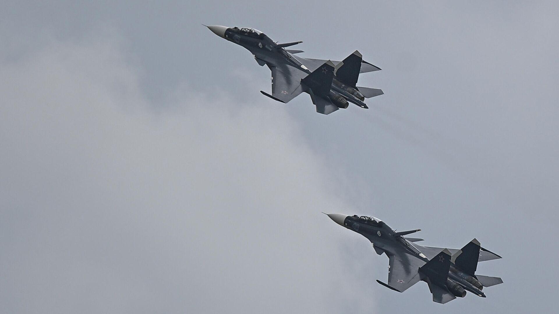 Истребители Су-30СМ  - РИА Новости, 1920, 29.09.2021