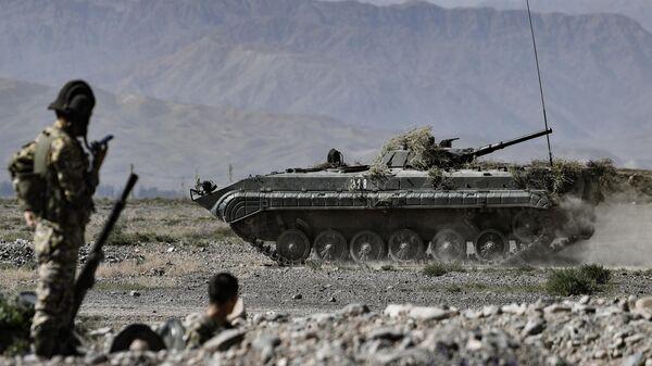 Военные учения ОДКБ Рубеж-2021 в Киргизии
