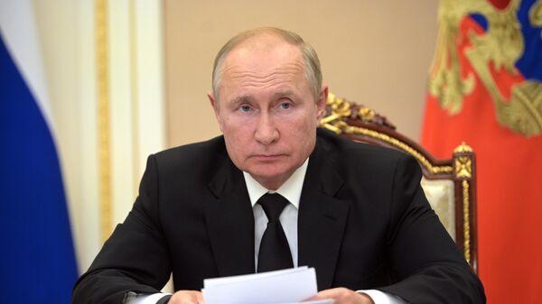 Президент РФ Владимир Путин проводит заседание Российского организационного комитета Победа