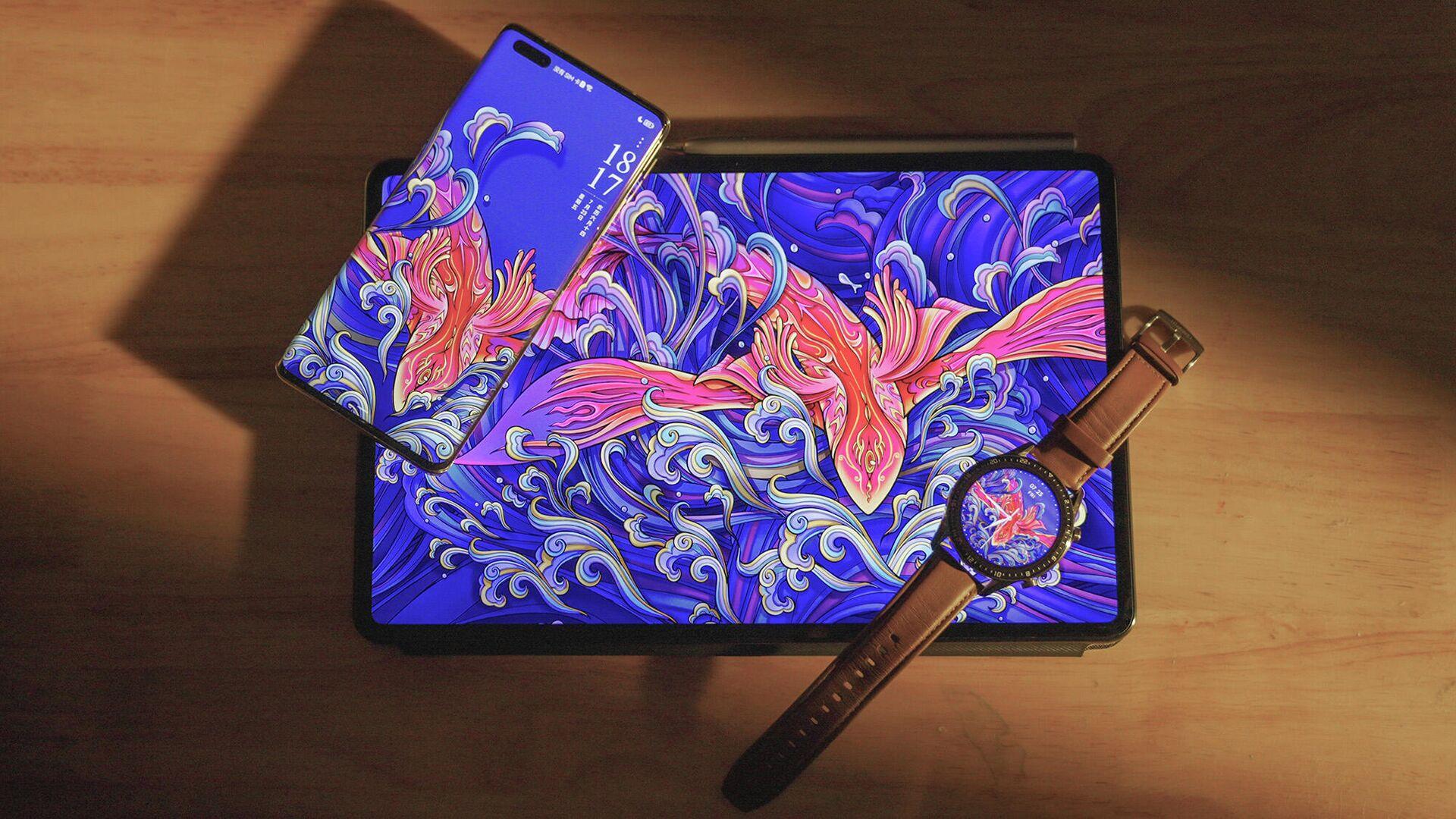 Обои для фирменных устройств Huawei, созданные по мотивам древнекитайской мифологии - РИА Новости, 1920, 10.09.2021