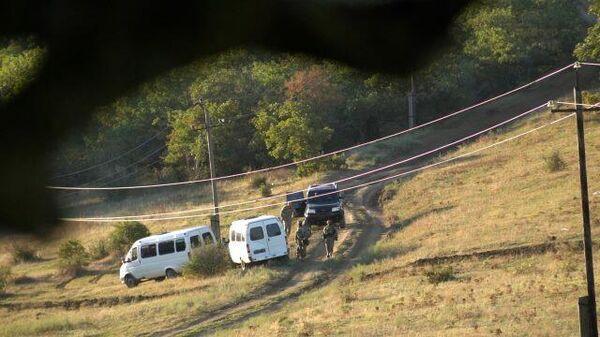 Кадры контртеррористической операции в Дагестане, где были ликвидированы двое боевиков
