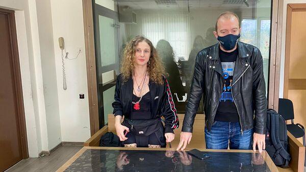 Участница группы Pussy Riot Мария Алехина в Преображенском суде Москвы