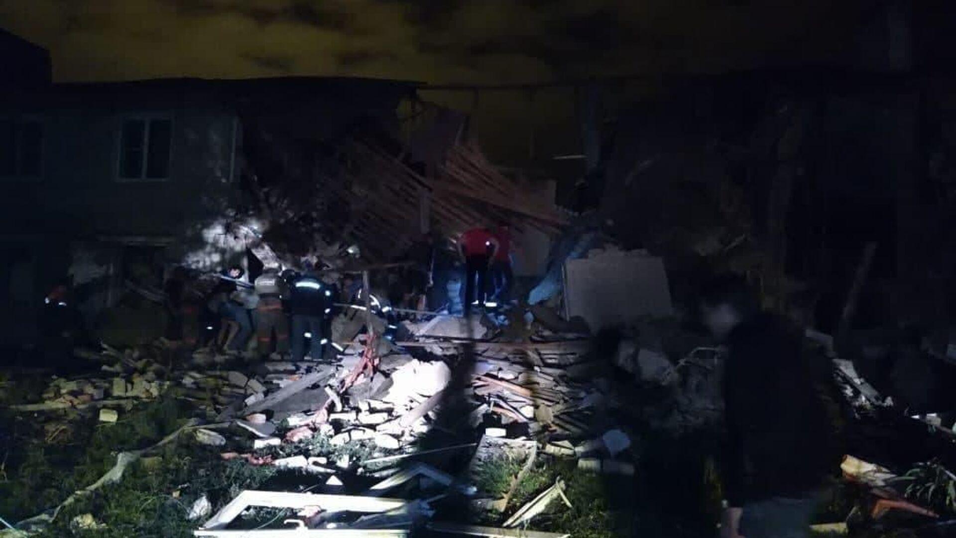 На месте взрыва газа в жилом доме под Ельцом - РИА Новости, 1920, 13.10.2021