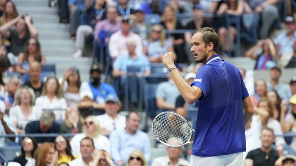 Российский теннисист Даниил Медведев после победы на US Open