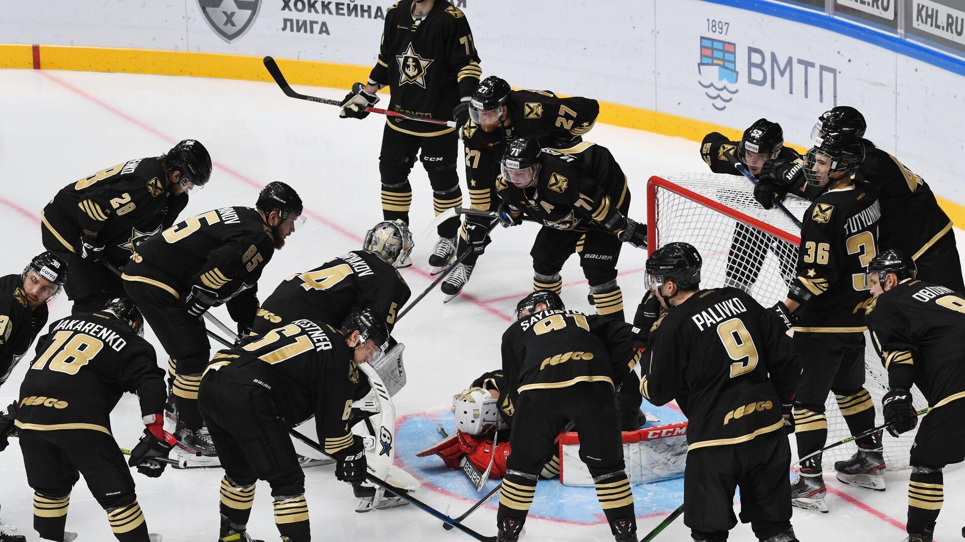 Хоккеисты Адмирала перед матчем КХЛ - РИА Новости, 1920, 02.10.2021