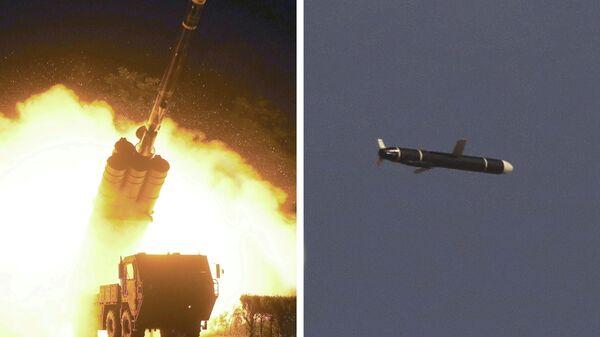 Испытание крылатых ракет большой дальности в Северной Корее
