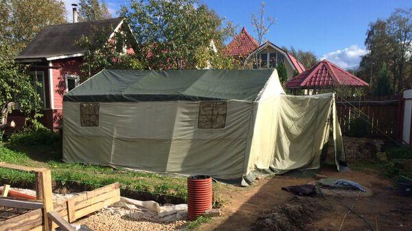 Палатка, в которой жили подозреваемые