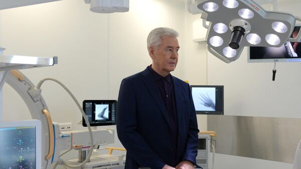 Мэр Москвы Сергей Собянин посетил открывающийся после реконструкции центр эндоскопии в ГКБ им. Боткина