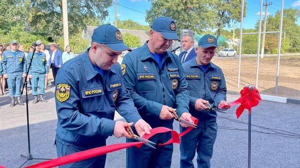 Открытие новой пожарно-спасательной части в Белгородской области