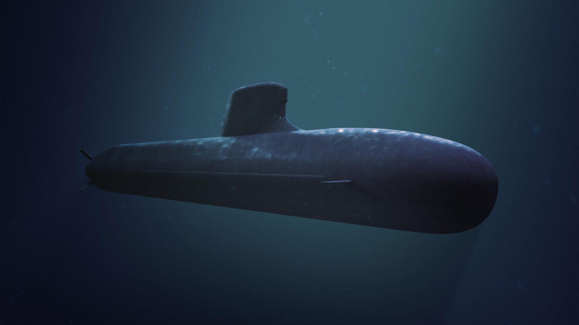 Компьютерная модель подводной лодки для австралийского флота, разработанная французской Naval Group - РИА Новости, 1920, 16.09.2021