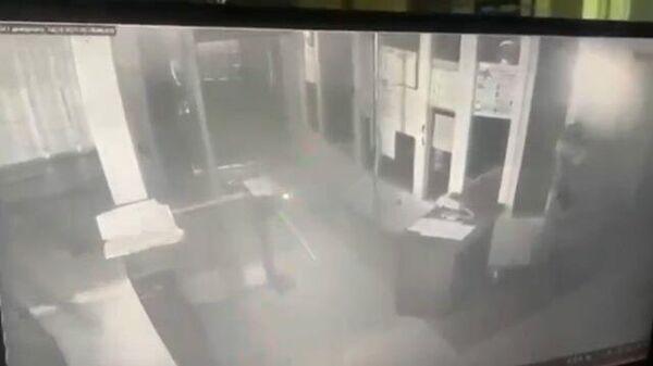 Кадры взрыва в отделении полиции в городе Лиски Воронежской области