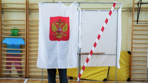 Во время голосования на выборах в Госдуму на избирательном участке в Москве