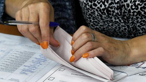 Подсчет голосов на избирательном участке №727 во Владивостоке