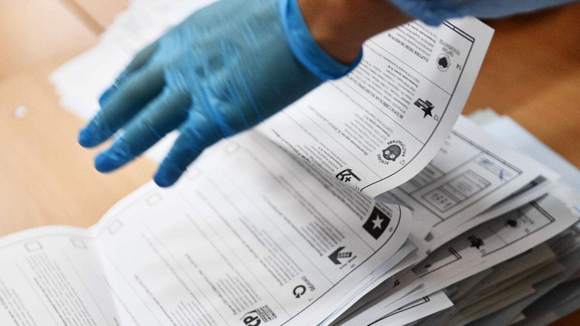 Подсчет голосов на выборах в единый день голосования - РИА Новости, 1920, 20.09.2021