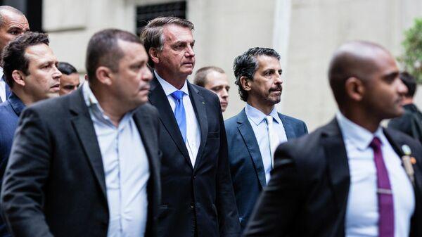 Президент Бразилии Жаир Болсонару в Нью-Йорке во время проведения Генеральной Ассамблеей ООН