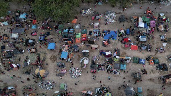 Лагерь мигрантов в штате Техас, США