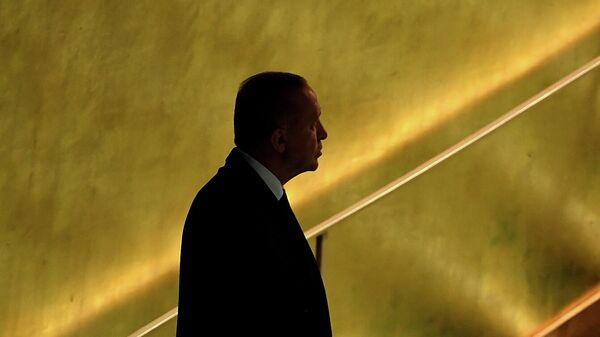 Президент Турции Тайип Эрдоган на сессии Генеральной Ассамблеи ООН в Нью-Йорке