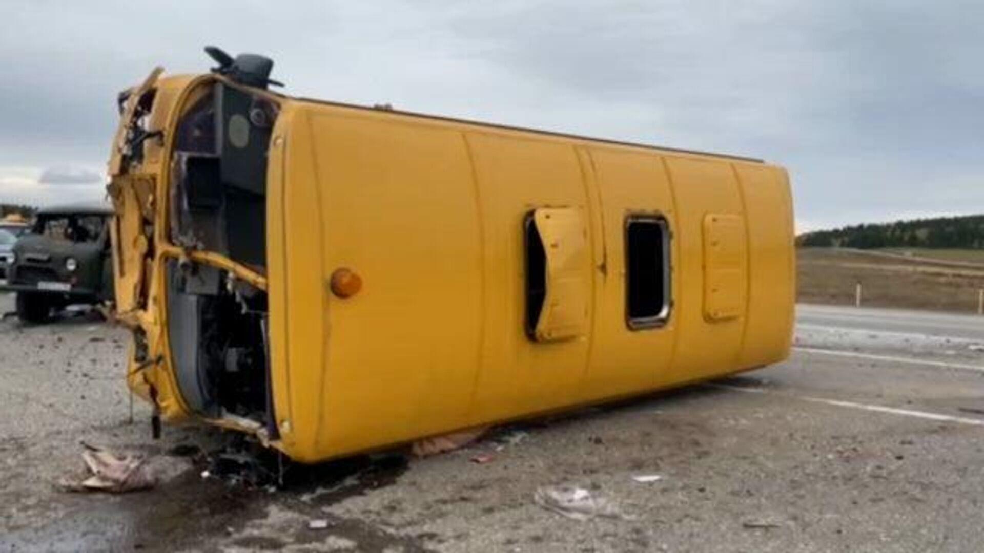 В Воронежской области начали проверку после ДТП со школьным автобусом