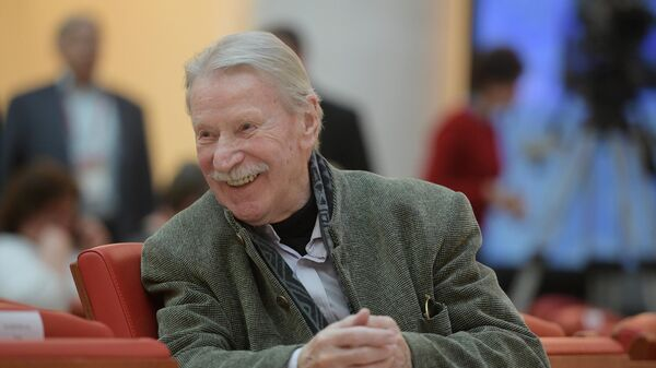 Народный артист России Иван Краско во время IX Международного форума Победителей Великая Победа, добытая единством