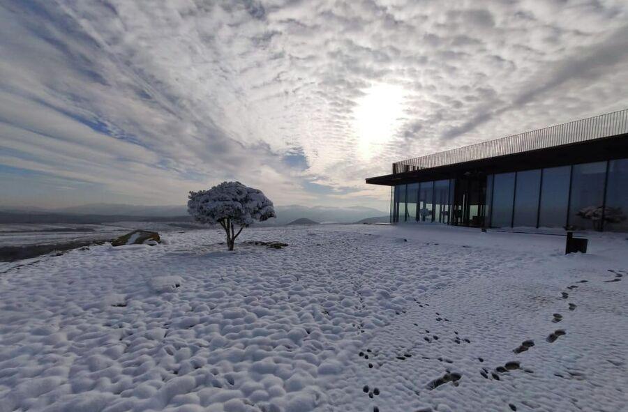 Умбра под снегом
