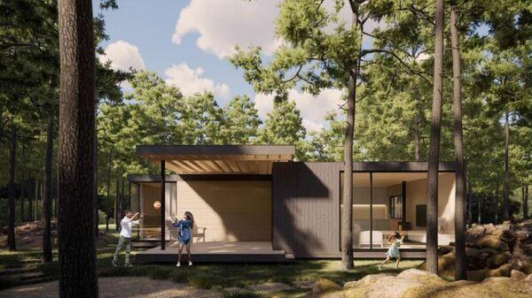Проект модульного жилого дома, разработанный на базе конструктивных решений ООО Вудкастор