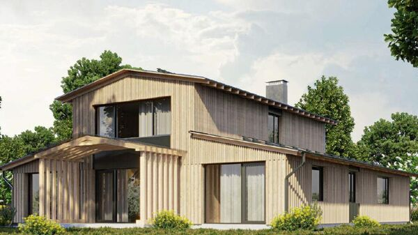 Проект индивидуального жилого дома ООО Жилпроект и Мастерской деревянной архитектуры Евгения Макаренко