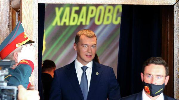 Губернатор Хабаровского края Михаил Дегтярев после церемонии инаугурации