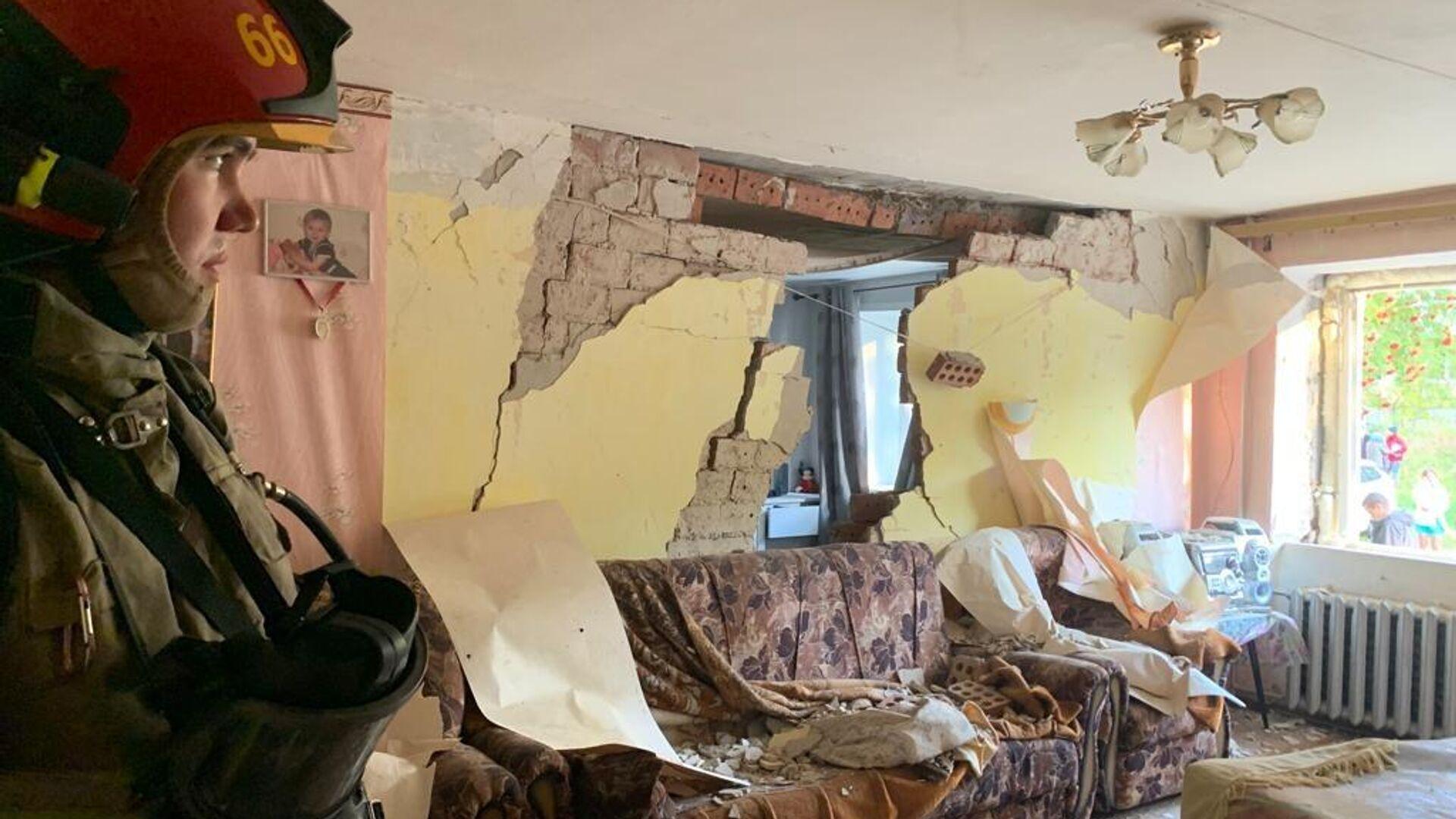 На месте взрыва газа в жилом доме в Верхней Пышме под Екатеринбургом - РИА Новости, 1920, 25.09.2021