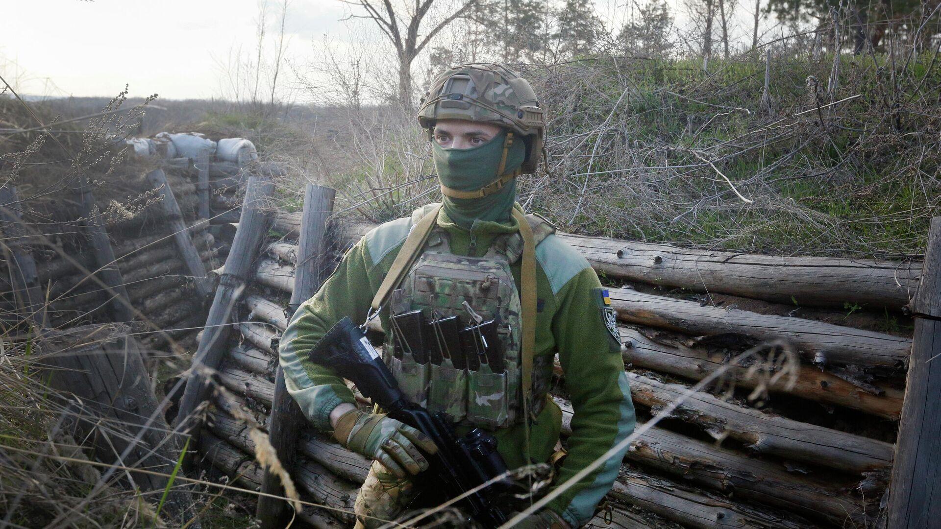 Военнослужащий армии Украины - РИА Новости, 1920, 26.09.2021