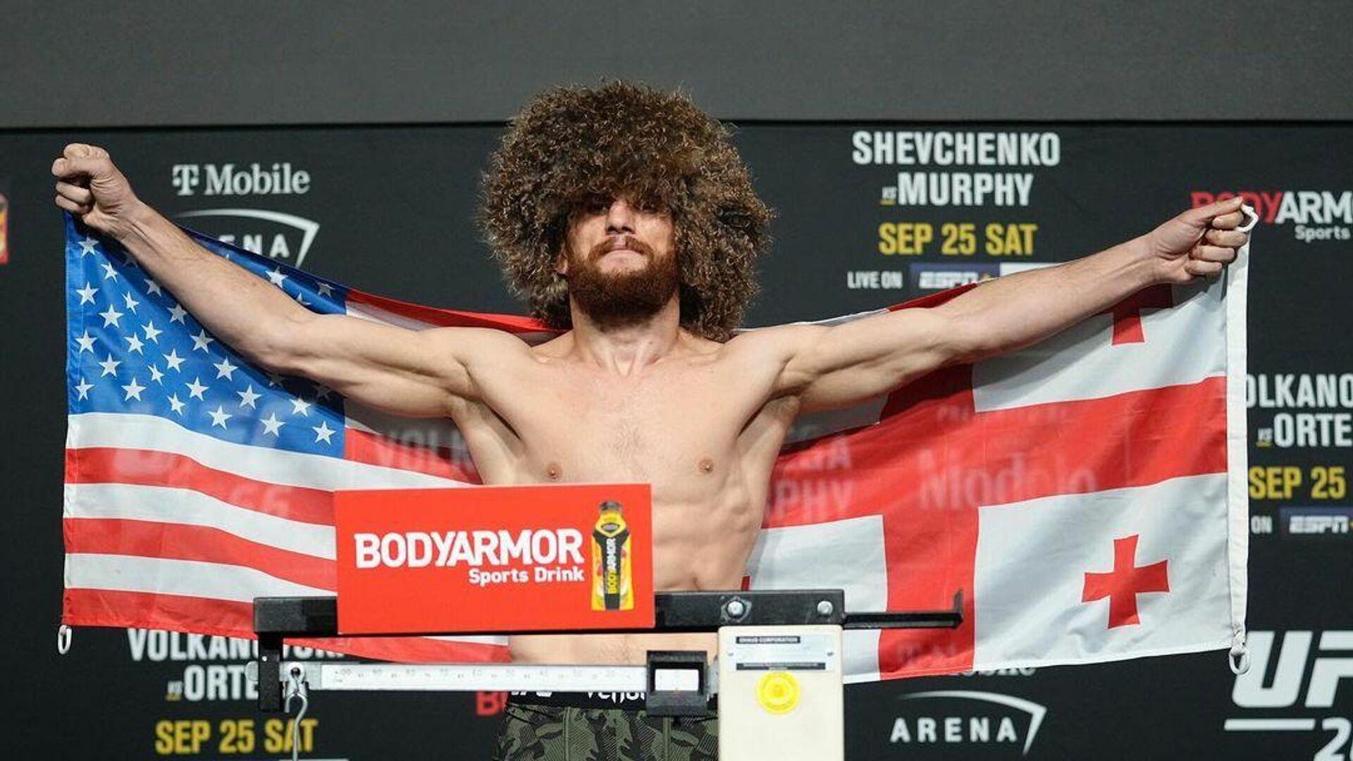 Грузинский боец UFC Мераб Двалишвили - РИА Новости, 1920, 26.09.2021