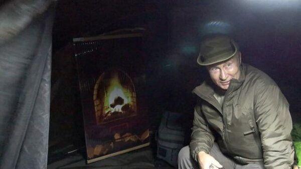 Уютненько – Шойгу заглянул в палатку к Путину во время похода по тайге