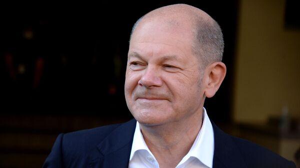 Кандидат в канцлеры от Социал-демократической партия Германии Олаф Шольц