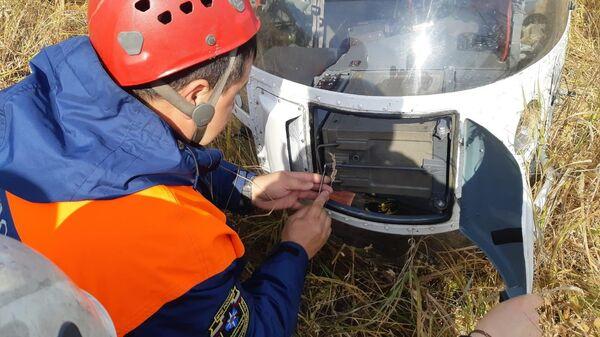 Камчатские спасатели прибыли к месту, где совершил жёсткую посадку вертолёт Sud-Aviation Gazelle
