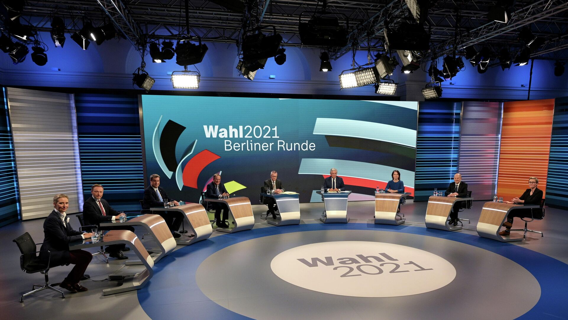 Теледебаты после всеобщих выборов в Берлине, Германия - РИА Новости, 1920, 27.09.2021