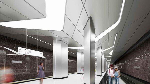Дизайн станции Крымская Троицкой линии московского метро